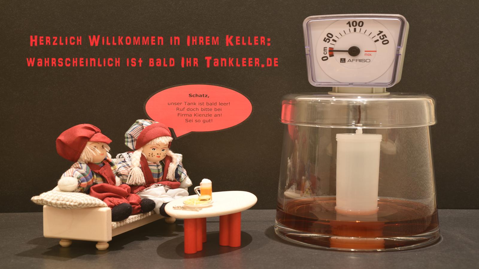 Herzlich Willkommen in Ihrem Heizöl-Keller. Wahrscheinlich ist bald ihr Tankleer.de